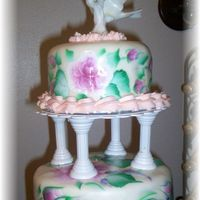 Handpainted Wedding Cake Oh I thought I would give it a try
