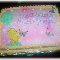 Classic Pooh Shower cake she wanted classis pooh he is done in fondant and gumpaste mix