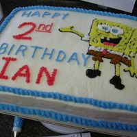 Spongebob1.jpg My first paid cake! The little boy loves Sponge Bob so that's what the cake was. But...I never like the cakes I do cause I see all the...