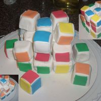 Rubik's Cube Not the way I originally wanted to do it but it's so much fun to play with like this. Each piece is completely covered in fondant and...