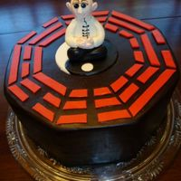Bagua Birthday  This cake was for a gentleman very interested in meditation and chi gung. The symbol is the Chinese Bagua. The cake is vanilla with whipped...