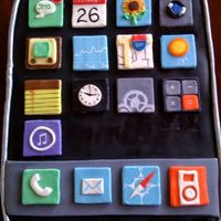 Iphone Cake  I made this cake for my son's 18th birthday, since he loves his iPhone more than life itself! All accents are made from MMF and hand-...