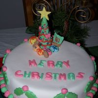 2005 Christmas Fruit Cake This is a cake i made for my family for this years christmas, a fruit cake was made a few months ago, and i covered it with sugarpaste. A...