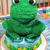 Frog Cake Cake made with Teddy Bear 3D Pan.