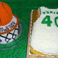Basketball Birthday Cakes For A Boston Celtics Fan