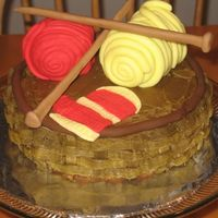 Knitter's Yarn Birthday Cake