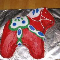 Dala Swedish Horse Cake made with Drommar cake pan from IKEA