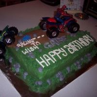 Side View Of Spiderman And Monster Truck Off Road Cake