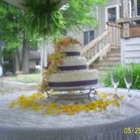 First Wedding Cake!!! This was for my best friend. I had to travel out of town to make and I was a nervous wreck. It all came together in the end though. The...