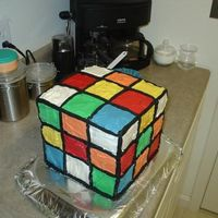 Rubiks Cube I made this cake for an 80's theme birthday party.