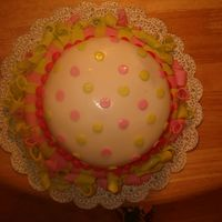 First Fondat Birthday Cake   This is the top view