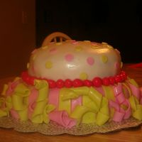 Side View Of Carnival Cake