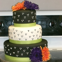 "My Sister's Wedding! This is the cake I made for my sister who just married her best friend on July 23. It was a 6, 9, and 12"" round cake. The top was..."