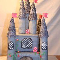 Princess Castle I used rice cereal for the columns and ice cream cones for the spires. I used an impression matte for the texture on the columns and the...