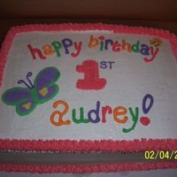 Audrey 1St Birthday Buttercream & FBCT