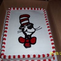 Dr. Seuss This was a cake I donated to the PTO at school for their Dr. Seuss Party.
