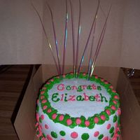 Wedding Shower Cake French vanilla cake, buttercream icing & decorations.