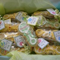 Baby Rattle Cookies NFSC with Wilton RI. Favors for baby shower.