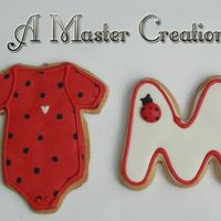 Ladybug Theme For Baby Shower NFSC with RI. The theme was ladybug, but they didn't want an actual ladybug cookie so wewent with this instead.