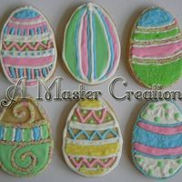 Easter Egg Cookies quick project became an all night event. colored sugar everywhere, but love how this turned out. TFL!