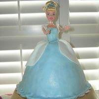 Cinderella Cake first 3D cake. I got help from my wilton instructor. she let me borrow her dome pan which was much bigger than the one wilton sells. cake...