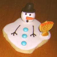 Why Snowman Don't Celebrate Chanukah I've been wanting to make the melted snowman cookies and then I remembered my daughter had this mini-menorah cookie cutter and I came...
