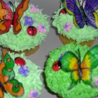 Butterfly Cupcakes This was the first time I used rice paper, and was pleased