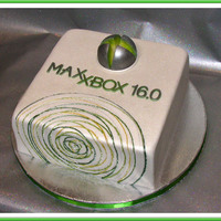 Special Xbox 360 The cake was too small to carve it in the shape of the real Xbox 360, so I used the logo and the pattern from the box, with the twist. It...