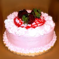 Strawberry Delight Strawberry Lover's Cake: Strawberry cake, strawberry buttercream icing, plus strawberry glaze and fresh strawberries on top. This cake...