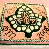 Aka Ivy Leaf Cake This is a larger version of the other AKA sorority cake I did before. This cake feeds about 60 people and was the largest FBCT I have ever...