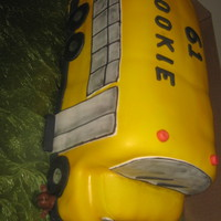 Bus Cake SCHOOL BUS CAKE WITH A RUN OVER DOG