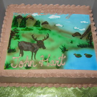 Hunting Cake DEER AND DUCK HUNTING