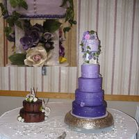 Purple Passion I've seen a couple different cakes on this site with the tapered shades and luckily I had a bride who was really into the idea finally...