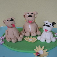 Dog Topper I followed Aine2's tutorial and made these dogs as a topper for a friend's mother's birthday cake. So easy to follow -...