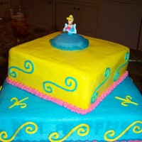Princess B-Day Princess B-day cake for a young ladies 3rd B-day.