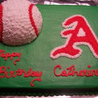 Catherine's B-Day Made for my niece who has become a big Arkansas Razorback Baseball fan this year.