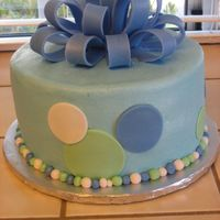 B-Day bc w/ fondant accents