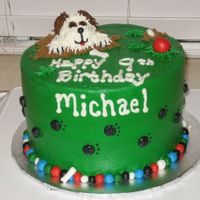 Dog Bday all bc and fondant