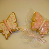Butterfly Cookies Covered With Fondant