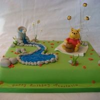 Winnie The Pooh   Water is piping gel and all the rest is fondant.