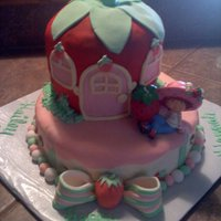 Strawberry Shortcake Made this cake for a family friend. The strawberry is carved from a couple of 7in and the bottom is 9. Thanks for looking