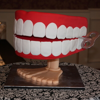 Chatter Teeth Groom's cake for a dentist.
