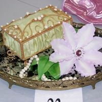 Gumpaste Jewelry Box And Clematis For OK Sugar Arts Show 05