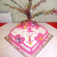 My Daughters First Birthday Cake hello, this is my first post on this site and i just wanted to know what people thought of my daughters birthday cake? ive been making...