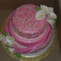 Pink Dress Cakes This is fruit cake decorated to imitate a birthday girls beautiful dress