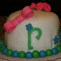 "Fun ""r"" Cake I made this a few months ago but didn't format it to the right size until now. The pleats at the bottom are still a problem I have so..."