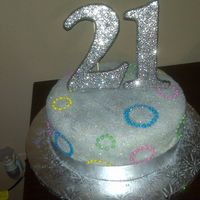 21 Glitter This was actually my bday cake for my 21st bdsy I bought it at sams cause I had nno time to bake but I did decorate it to go with my theme...