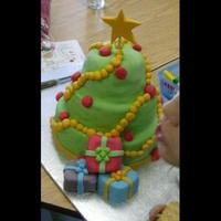 Christmas Tree This was for my sons class..... The kids thought it was made of clay lol!!!