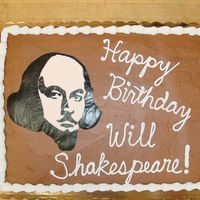 Shakespeare's Birthday Cake  This is a 1/2 sheet cake that I made for a local college. They were having Shakespeare festival and needed something original for his &quot...