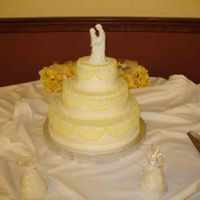 First Wedding Cake This was my first wedding cake. It was a scary and humbling experience.